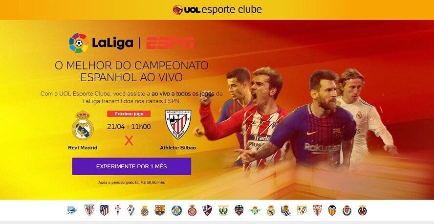 Voucher UOL Esporte Clube