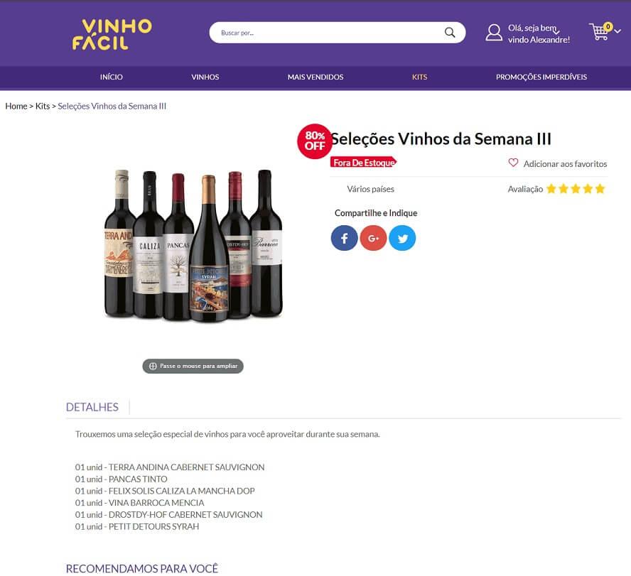 Código Promocional Vinho Fácil