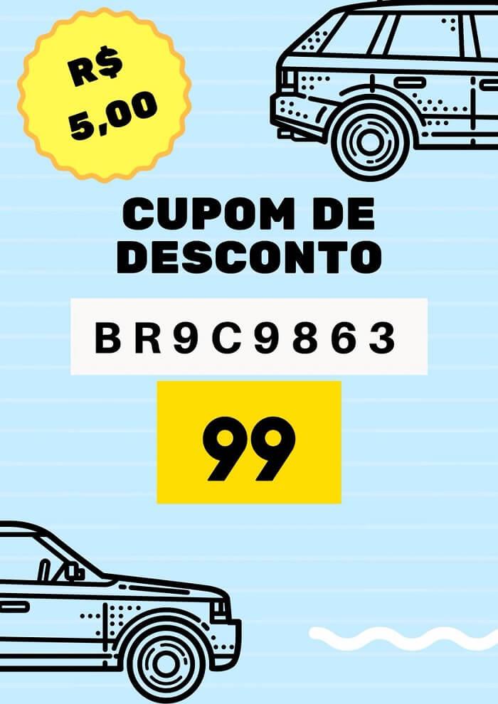 Cupom de desconto 99 Táxis