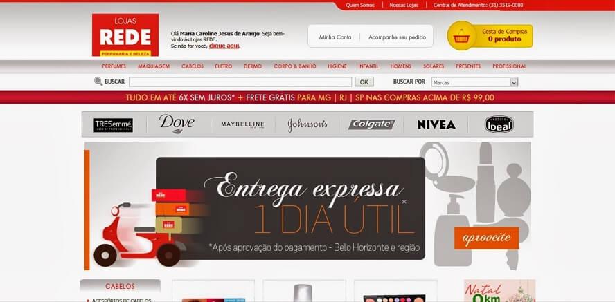 Cupom de desconto Lojas Rede
