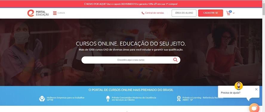 Cupom de Desconto Portal Educação
