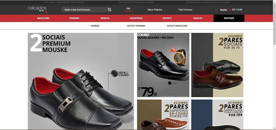 Voucher Calçados Online
