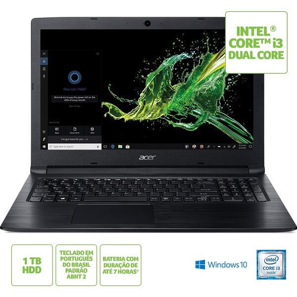 Notebook Acer Aspire 3 4GB Core i3-6006U (A315-53-3470)
