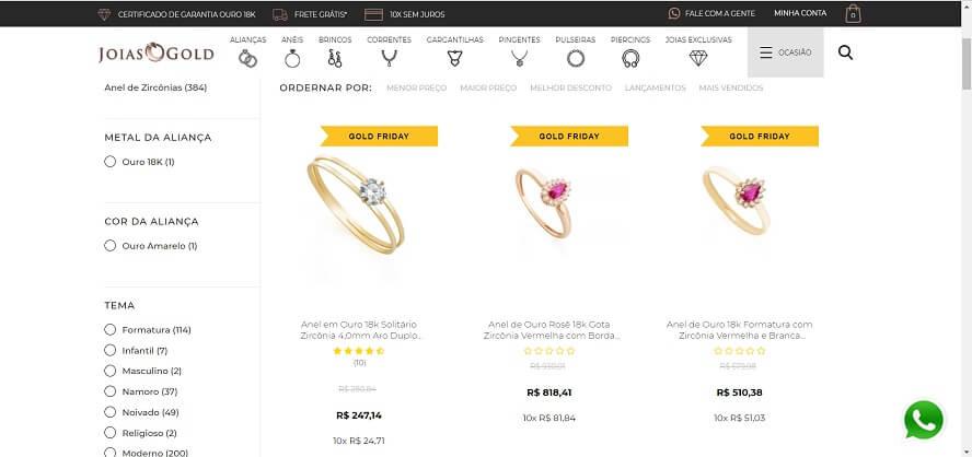 Código Promocional Jóias Gold