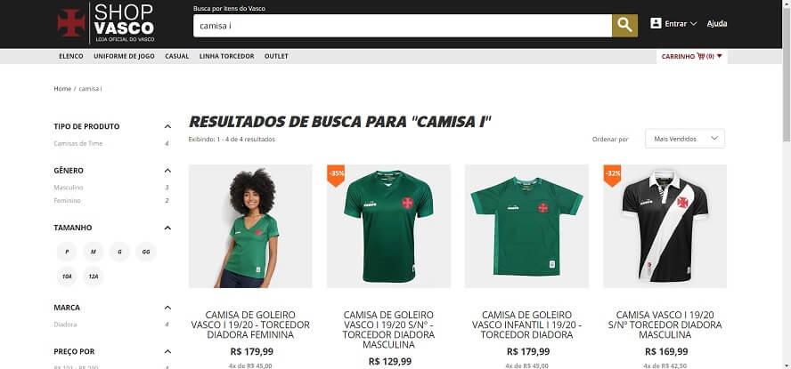Cupom de Desconto Shop Vasco