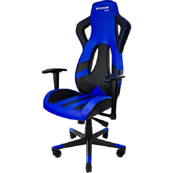 Cadeira Gamer MX11 Giratória Preto/Azul – Mymax